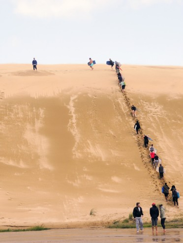 up the dune